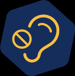 Hearing loss icon