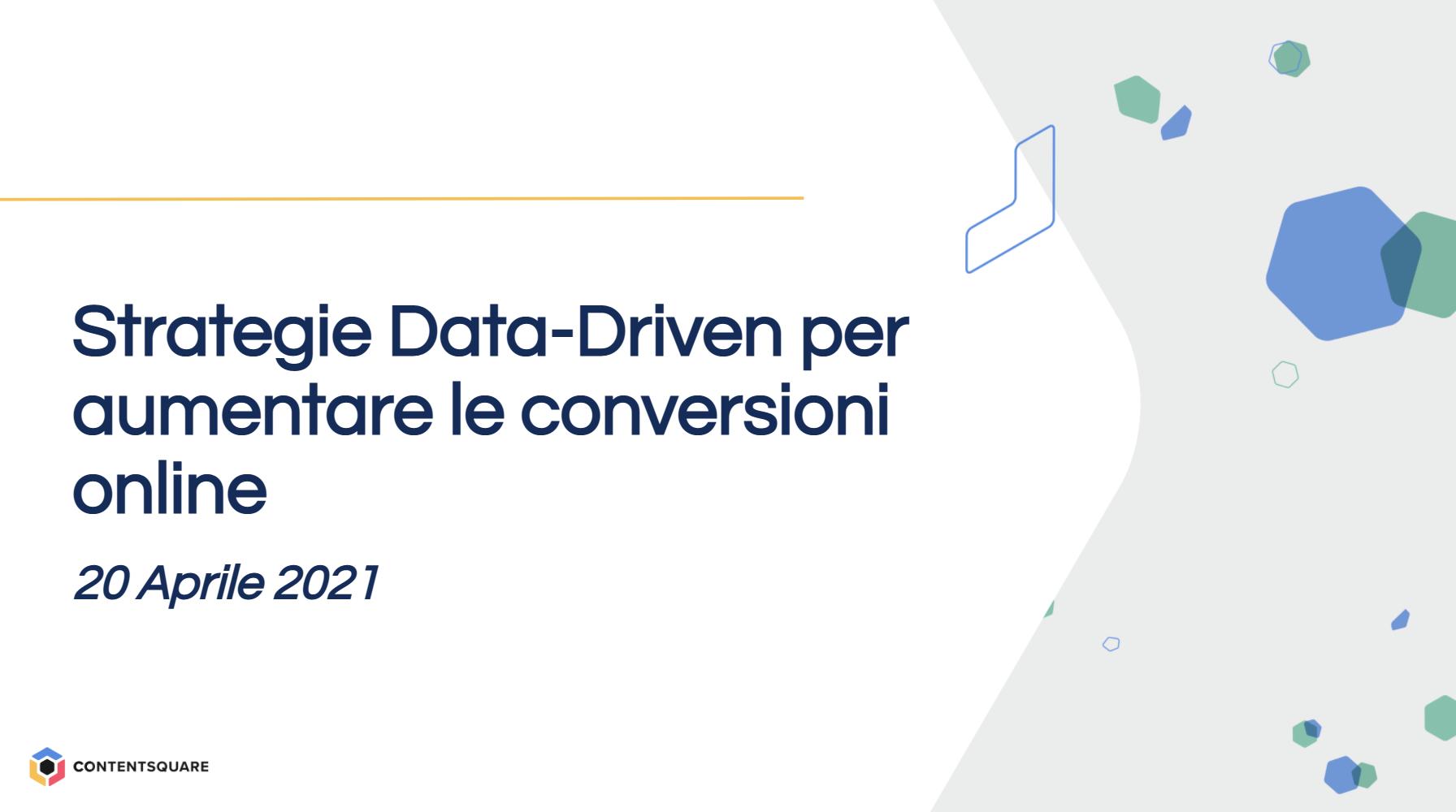 strategie data-driven